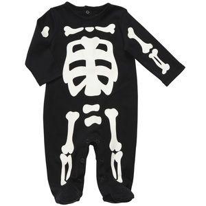 Glow in the Dark Baby Halloween Skeleton Onesie